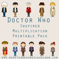 Doctor Who Inspired Multiplication Printable Pack