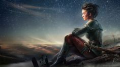 On the starry skies\' shore by Aleksei Vinogradov | Illustration | 2D | CGSociety