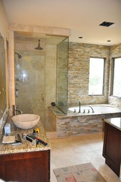 Bathroom Shower Remodel design/build bathroom remodel pictures | arizona contractor | grey
