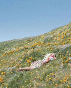 image via Jimmy Marble // How absolutely stunning is this location and these flowers in California? We are daydreaming about resting on this flower-dappled hill! Film Photography, Fashion Photography, Vintage Photography, All Nature, Summer Aesthetic, Foto Pose, Summer Vibes, In This Moment, Portrait