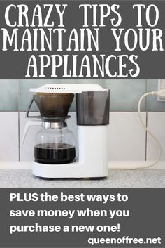 Do you know which 3 household appliances you should regularly maintain? This post also has GREAT tips for saving money when you buy a new appliance!