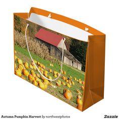 Autumn Pumpkin Harvest Large Gift Bag