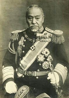 Tōgō Heihachirō (27 January 1848 – 30 May 1934) was a Japanese Admiral. During the Russo-Japanese War, Tōgō engaged the Russian navy at Port Arthur and the Yellow Sea in 1904, and destroyed the Russian Baltic Fleet at the Battle of Tsushima in 1905, a battle which shocked the world. Tsushima had broken the Russian strength in East Asia, and is said to have triggered various uprisings in the Russian Navy, contributing to the Russian Revolution of 1905.