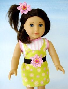 Download Doll Dress & Hair Accessories for 18 Inch Dollls Sewing Pattern | Featured Products | YouCanMakeThis.com