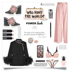 """who runs the world?"" by im-karla-with-a-k ❤ liked on Polyvore featuring Sarah's Bag, Agent Provocateur, Prada, VIVETTA, Casetify, Jacquemus, Chanel, Gucci, Edward Bess and Illamasqua"