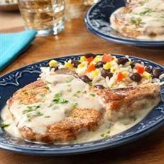Pork Chops with Creamy Poblano Sauce - Allrecipes.com