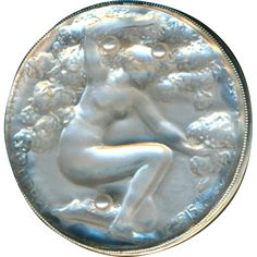 Scarce Lalique Fioret Art Nouveau Nymph in Sterling Silver with Pearls Alphonse Mucha, Cameo Jewelry, Antique Jewelry, Art Nouveau, Jugendstil Design, Buttons For Sale, Button Art, Sewing A Button, Art Deco Design