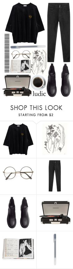 """""""livin' like damn glitter"""" by baby-boba-tea ❤ liked on Polyvore featuring H&M, Crosley and Assouline Publishing"""