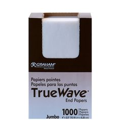 SP-26067 GRAHAM BEAUTY TRUE WAVE END PAPERS - JUMBO 1000 SHEETS  Exactly what you need to ensure the best result when rolling hair. Absorbent end papers with great wet strength.