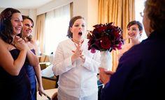 Purple & Dark Red Wedding Bouquet. Wedding Planning by Simply Wed. www.simplywed.com