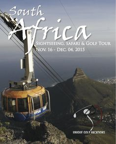 Brand new itinerary announced for our November 2015 South Africa Golf, Safari and Sightseeing Tour! All the details can be found on our website. Let us know what you think of this amazing itinerary with 11 rounds of golf, sightseeing and of course - game drives! #southafrica #uniquegolfvacations #golf