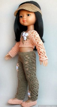 Trousers for clothes / Clothes for dolls / Shop. Sell to buy a doll / Babies. Crochet Barbie Clothes, Girl Doll Clothes, Knitted Dolls, Crochet Dolls, American Girl, Barbie Kids, Nancy Doll, Barbie Dress, Crochet Fashion