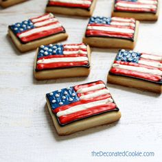 f1881113a8d0 4th of July cookies  Decorate American flag cookies.