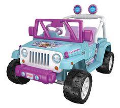 Amazon.com: Power Wheels Disney Frozen Jeep Wrangler, Baby Blue/Purple: Toys & Games