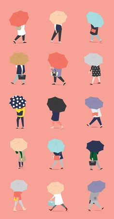 Crossing the street on a rainy day on Behance