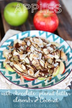 Chocolate-Peanut Butter Apples with Almonds & Coconut - Our Best Bites
