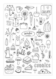 Doodle art 444378688233691093 - Freebie Friday – Fall Dashboard Source by dubreuillucill Planner Doodles, Bujo Doodles, Notebook Doodles, Doodle Drawings, Doodle Art, How To Doodle, Fall Drawings, Autumn Doodles, Doodle Inspiration