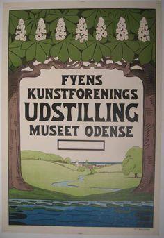 Fyens Kunstforenings Udstilling Museet Odense 1910 $850 25x34.75in PosterMuseum.com by Philip Williams Posters NYC