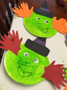 Paper plate witch