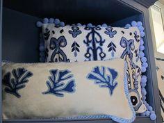 Ikat Pom & Coral Pillows