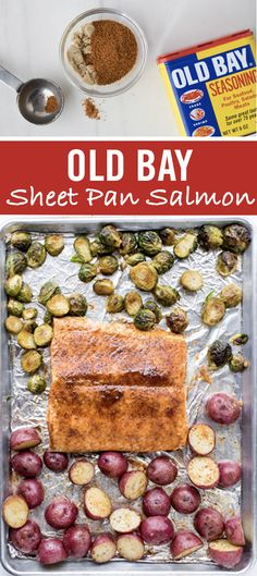 There's a new salmon recipe in the dinner rotation, and it all comes together on one single sheet pan. The delicious combo of OLD BAY + Brown Sugar makes for a sweet, bold glaze, while roasted Brussels sprouts and red potatoes cook up as tasty sides. Roast it all together and serve with lemon wedges for an easy and delicious sheet pan dinner.