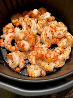 New Air Fryer Recipes, Air Frier Recipes, Air Fryer Dinner Recipes, Air Fryer Recipes Shrimp, Frozen Cooked Shrimp, Frozen Shrimp Recipes, Recipes With Cooked Shrimp, Chicken Recipes, Air Fried Food