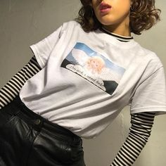 Sometimes quite is violent Vintage,striped,shirt,thrift store, 90s, goodwill, thrift, trend, cute, girl, fashionable,fashion,white , hypebeast
