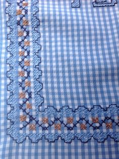 Bordados en sabanillas con telas de cuadros - Imagui
