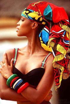 Colorful headwrap. This woman is Amazing