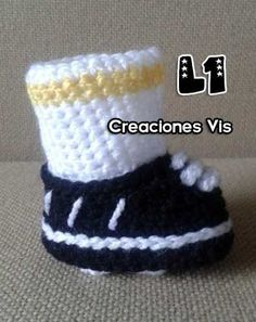 Tennis Zapato Futbol Soccer P/ Bb Tejidos A Mano Crochet