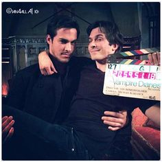 """The Vampire Diaries"" - Chris Wood (Kai) and Ian Somerhalder (Damon)"