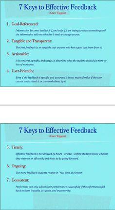 Twitter / ChrisWejr: 7 Keys to Effective Feedback ...