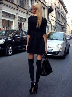:) I have to get some thigh high socks! Love!