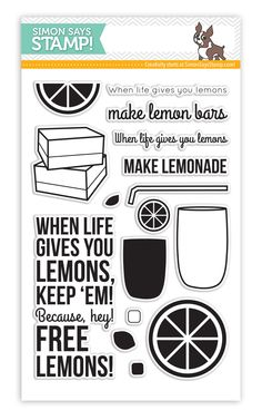 Simon Says Clear Stamps LEMONADE sss101459 This is the Life