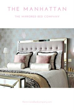 The Manhattan from The Mirrored Bed Company is the world's leading luxury mirrored bed - most chosen by our global customers. All beds are handmade to order in solid wood and the highest grade of mirror - we do not use MDF (the mark of a cheap and flimsy mirrored bed). We provide multiple fabric options in silk, velvet and leather, mirror finishes and many other style options to choose from to create your most perfect sacred space!