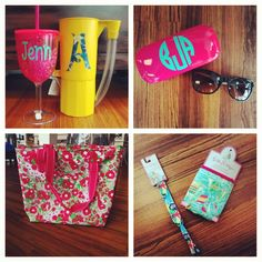 We're ready for summer! #summer #springbreak #monogram #beach #lillypulitzer