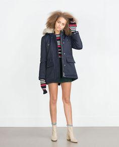 Image 1 of SHORT PARKA from Zara