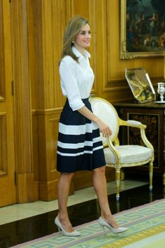 MyRoyals: Queen Letizia attended audiences at Zarzuela Palace, September 11…