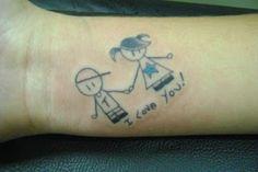 tatuagem menino e menina palito -