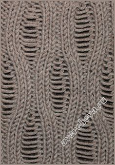 Two-way pattern with run-flat loops- see chart: Knitting Stiches, Crochet Stitches Patterns, Knitting Charts, Cable Knitting, Knitting Yarn, Hand Knitting, Stitch Patterns, Knitting Patterns, Knitting Designs