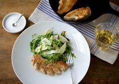 Cider-Glazed Chicken Breasts with Apple-Fennel Salad - Bon Appétit