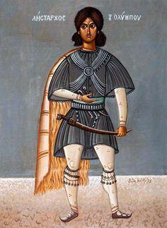 """ΦΩΤΗΣ ΚΟΝΤΟΓΛΟΥ: """"Λήσταρχος του Ολύμπου"""" """" Η παρούσα ζωγραφία εφιλοτεχνήθη όπως εν σχήμασι γραπτοίς διαμένη πρό τών ομμάτων εις αιώνα ο κύκλος τής ελληνικής φυλής, από τών πρώτων αυτής προπατόρων μέχρι τών καθ' ημάς…Εζωγραφήθη δέ μετά πόθου καί φιλοτιμίας πολλής φαντασία καί χειρί Φωτίου Κόντογλου τού εκ Κυδωνιών τής Μικράς Ασίας"""" Greek Art, Byzantine, Wonder Woman, Superhero, Artist, Painters, Fictional Characters, Empire, Women"""