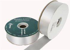"#9 Silver Flora Satin Ribbon 1- 7/16"" X 100 Yards(1 Roll)"