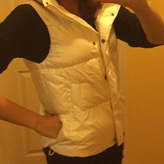 Gap White Winter Vest Size small. White vest perfect for winter. I only wore this one or two times. In perfect condition. GAP Jackets & Coats Vests
