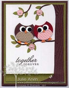 Owl Anniversary punch art
