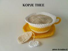 Zin in een kopje thee? Haakpatroon van De creatieve uil