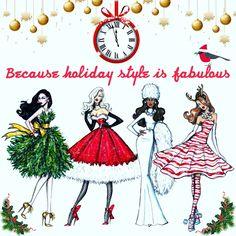 Holiday couture illustrations!