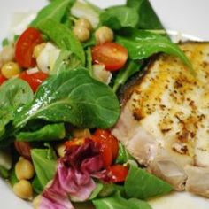 Halibut Salad in 15min