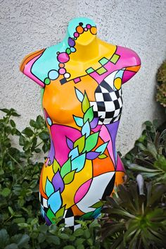 Body of Work. acrylic on plastic mannequin finished with glossy polyurethane. Rebecca Waring-Crane.