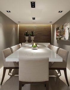 eh!DÉCOR | Salas de jantar decoradas em tons neutros, projetos Flávio Moura